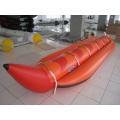 6p aufblasbares Bananenboot viele Personen rotes Gummiboot