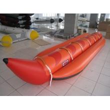 6p Inflável Banana Boat Muitas pessoas Red Rubber Boat