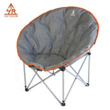Cadeira de lua de dobramento acolchoada rodada do pires para o adulto