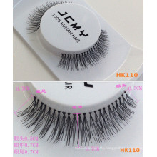 2016 wholesale 100% human hair eyelashes fake eyelashes super soft and natural eyelashes