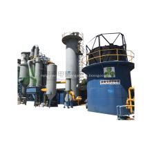 Gazogène à lit fluidisé à la biomasse en bois produisant un gaz de nettoyage