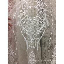Bordado de encaje blanco hecho a mano para el vestido de boda 25
