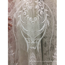 Вышивка беловатого кружевной для свадебное платье 25