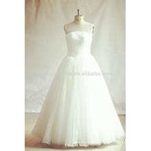 Princess Illusion Neckline White Tulle Wedding Dresses