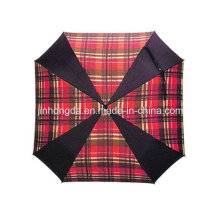 Gitter Stoff Golf Regenschirm (YSGO0008)