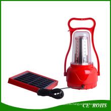 LED que acampa linterna solar que camina la lámpara solar de emergencia LED que acampa solar recargable portátil