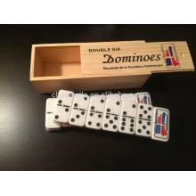 logo de impresión tallada de dominó