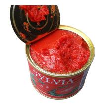 Pâte à la tomate concentrée concentrée à vente chaude 400g Taille de l'étain