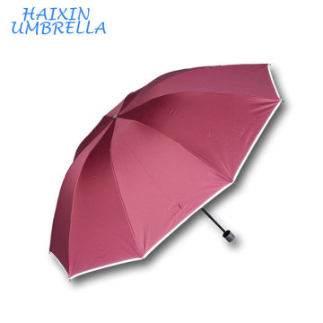 Daily Use Product Factory Price Promotional Logo Design Printed Outdoor Large Sun Brand Umbrella with Warning Strip