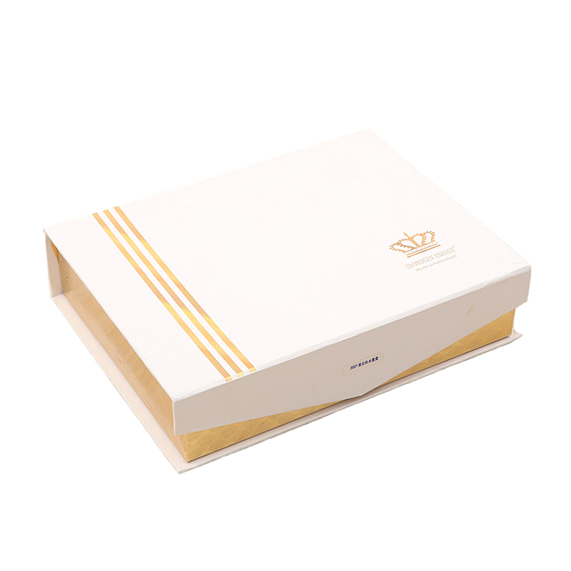 Gold Fancy Paper Cosmetic Gift Box