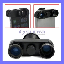 4 in 1 Wide Angle 10 X Zoom Camera Fish Eye Macro Lens for iPhone 5 5s