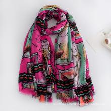 Мода женщин напечатанная вискоза Весна Шелковый шарф (YKY1132)