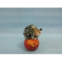 Apple Hedgehog Shape Ceramic Crafts (LOE2535-C8.5)