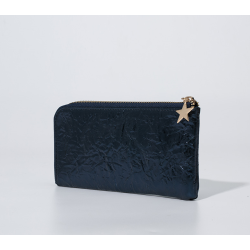 Blingbling and metallic material wallet clutch bag