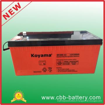 Batterie d'acide de plomb de 12V 200ah AGM pour le télécom, stockage