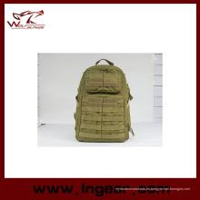 Nylon al aire libre escuela de impermeable deporte militar mochila moda bolso # 023 Tan