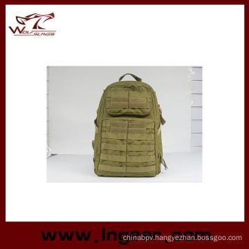 Nylon Outdoor Sport Military Waterproof School Backpack Fashion Bag 023# Tan