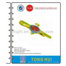 Metal Crown design tie pin / clip / bar com epóxi