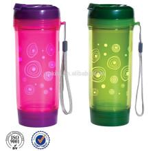 Botella de té de pared doble sin BPA con filtro infusor