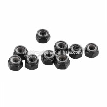 M4/M3/M2.5/M2.0 *5.5 steel black anodized locknuts/Lock nuts
