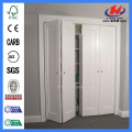 Puertas interiores JHK-001 Venta al por mayor Shaker 1 Panel MDF Bi-fold Door