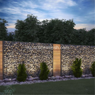 Galionized Gabion Basket Garden Wall Fence