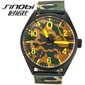 Relógios do movt do Japão do esporte do verde do exército do quartzo da alta qualidade