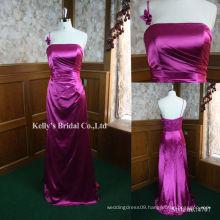 2013 new luxury satin pattern evening dress