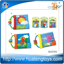 El libro suave del paño del bebé educativo al por mayor para la cama rodeó H147531
