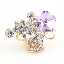 Flower basket style fashion brooches