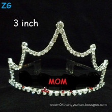 Wholesale small crystal hair accessories mother's day gift MOM's crowns, customized crowns