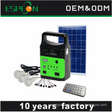 2018 new design products 10W solar panel led mini solar lighting kit
