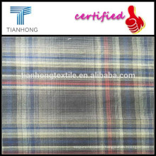 Plaid yarn-dyed fabric/organic cotton fabric/Professional dress shirt fabrics