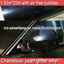 Chameleon Diamond Pearl Glitter Car Wrapping Film with Air Bubbles