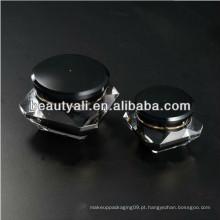 Embalagem do recipiente do cosmético do acrílico de Black Diamond