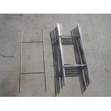 Geschweißte verzinkte H-Rahmen 10X30 'Wire Step Stakes