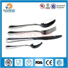 cheap 4pcs stainless steel used restaurant dinnerware