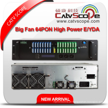 High Performance 64pon Alta Potência 1550nm 3u Multi-Ports Erbium Ytterbium Co-Doped Amplificador Óptico Y / EDFA