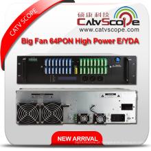 64pon Alta potência 1550nm 3u Multi-Ports Erbium Ytterbium Co-Doped Amplificador Óptico Y / EDFA