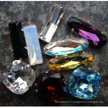 Perles en cristal avec griffe en métal (300)
