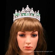 Tiara clara al por mayor del desfile de la corona de la boda de la tiara del Rhinestone