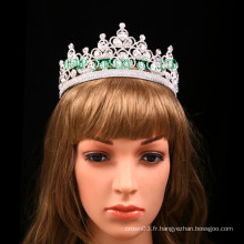 Vente en gros Clear Rhinestone Tiara Wedding Crownant Pageant Tiara
