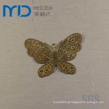 Elegante brincos de filigrana de cobre com design de borboleta para as mulheres