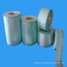 Rollo de esterilización de plástico de papel médico para el uso del hospital de CSSD