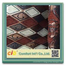 Tissu de jacquard de polyester de canapé 100% polyester chenille