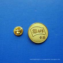 Coin Lapel Pin, insigne plaqué or sécurisé (GZHY-LP-026)