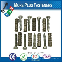 Made in Taiwan Anchor Lag Bolt Shield Brass Lag Bolt Brass Lag Bolt