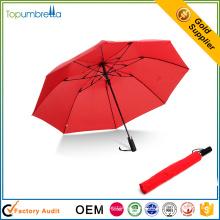 proveedor chino mini cuerpo completo resistente al viento a prueba de intemperie 2 paraguas plegable