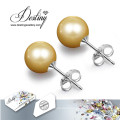 Destiny Jewellery Crystals From Swarovski Pearl Earrings Set