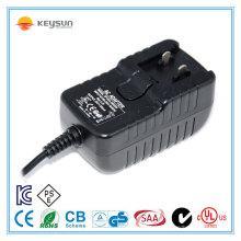 12V1000mA austauschbarer Steckeradapter / austauschbarer Steckeradapter 12v / 12v 1000ma AC DC Stromversorgung